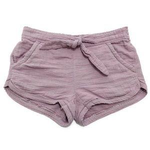 Altar'd State Mauve Gauzy Cotton-Knit Shorts